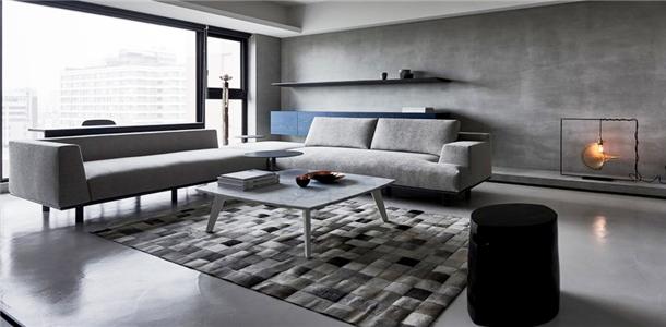 水泥的原始味道!雾霾灰创造现代精致公寓